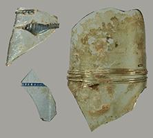 Foto Glas aus dem Mittelalter