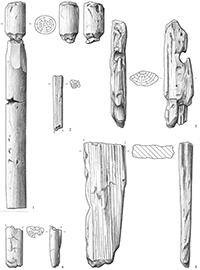 Zeichnung Holzartefakte