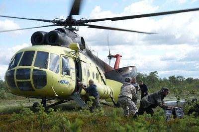 Kayukovo, helikopter
