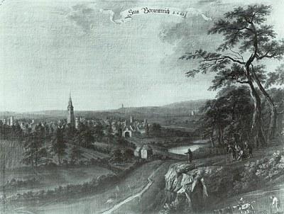 Fabricius Stadtansicht Borgentreichs aus dem Jahr 1665
