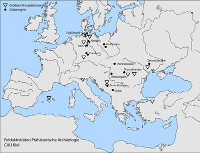 Feldaktivitäten der Prähistorischen Archäologie Kiel